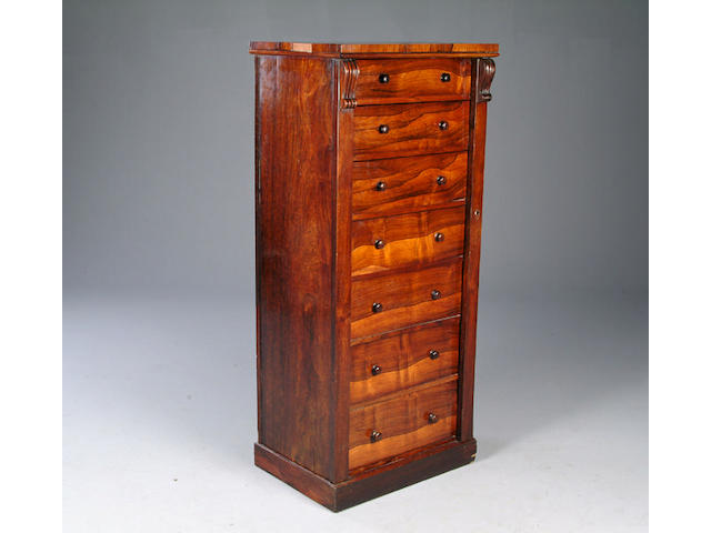 A Victorian rosewood wellington Chest