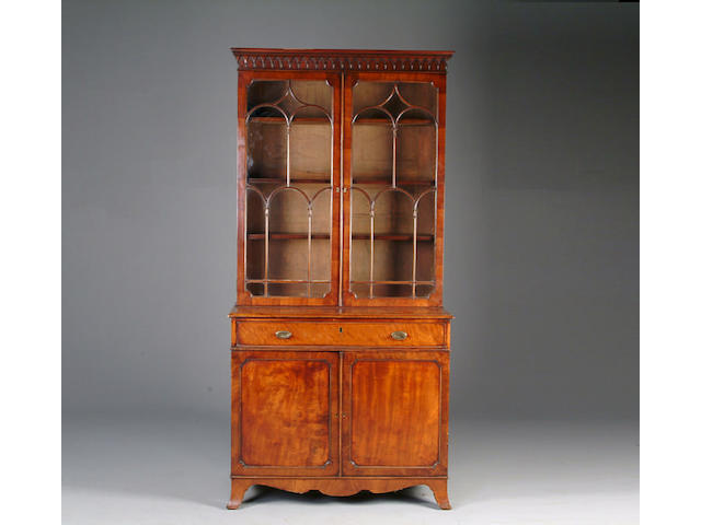 A 19th Century mahogany secretaire bookcase
