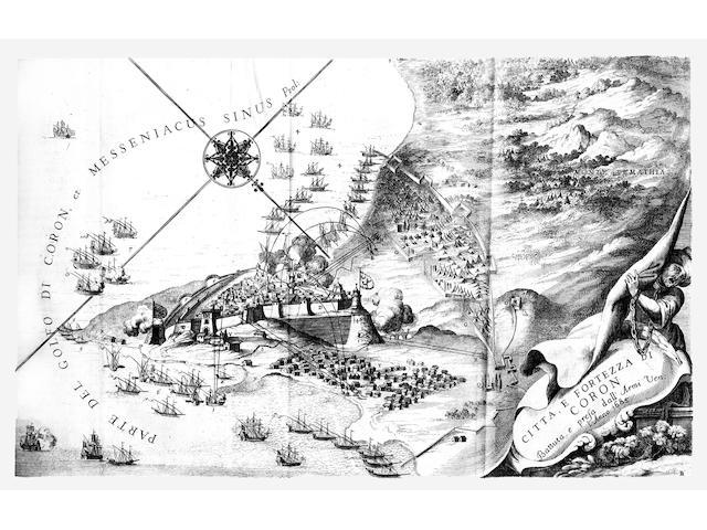 CORONELLI (VINCENZO MARIA) Description geographique, et historique de la Moree; reconquise par les v