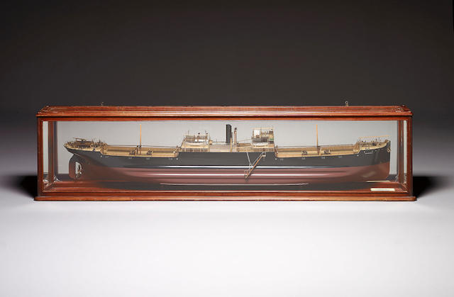 A Good Mirror Backed Builder's Half Model of the SS WILLINGTONIA 242 x 28 x 57cm (95 x 11 x 22.5in)
