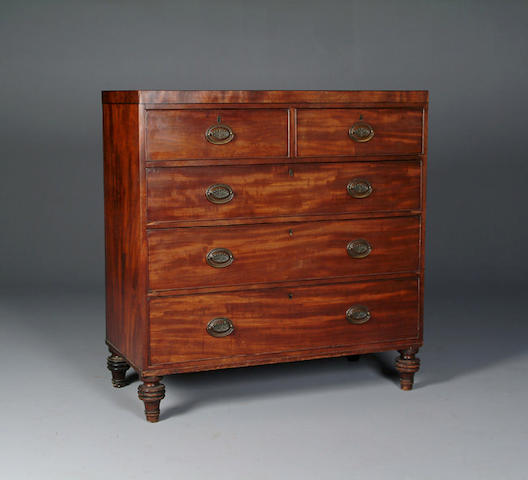 An early 19th Century mahogany chest,