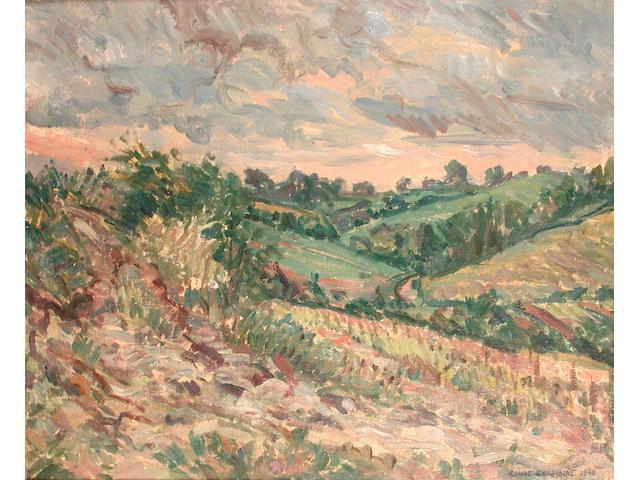 Elliot Seabrooke (British, 1886-1950) Summer Landscape 51 x 61 cm.