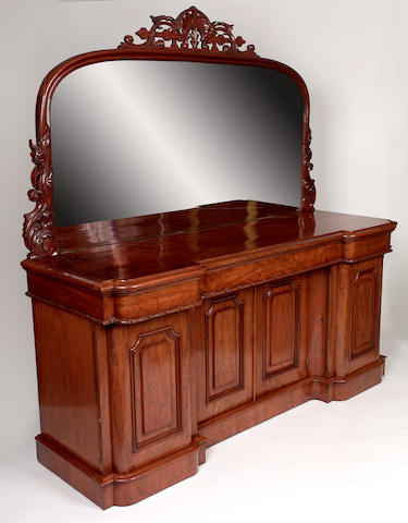 A Victorian mirror back sideboard,