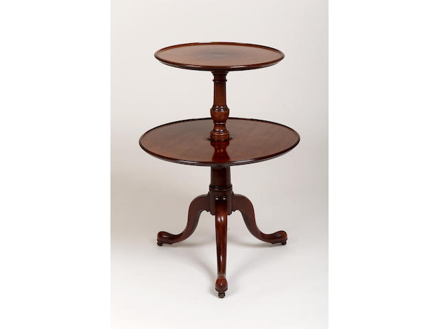 A 19th century two tier dumb waiter,