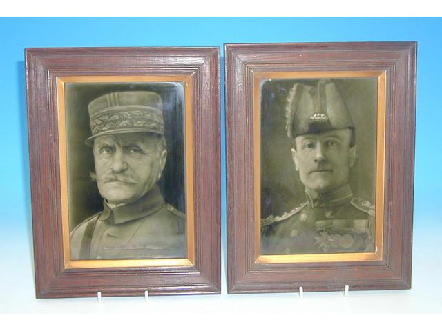 A set of eleven J. H. Barratt & Co. portrait tiles designed by George Cartlidge,