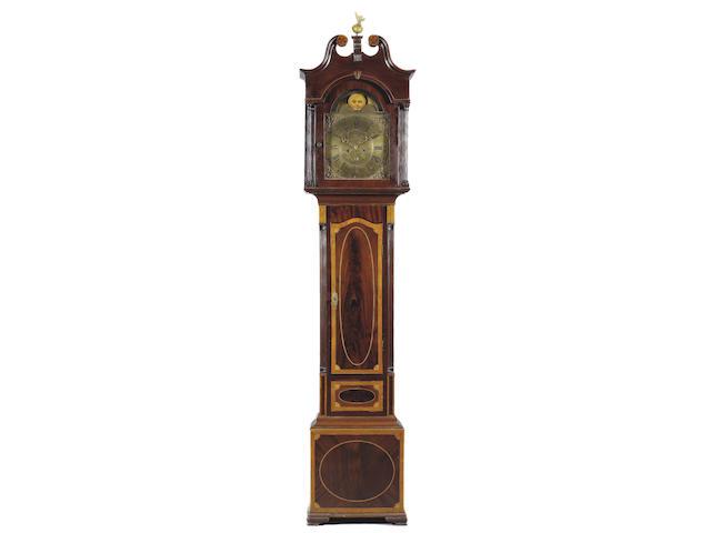 Irish Interest: An 18th Century mahogany and satinwood banded longcase clock
