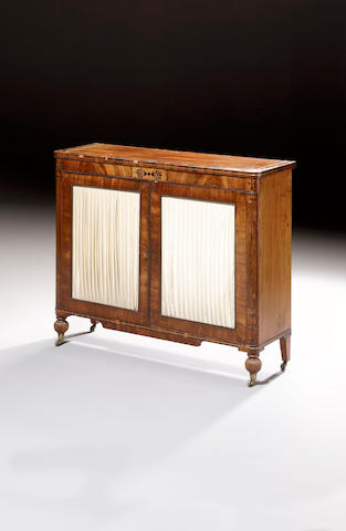 A George IV mahogany and rosewood crossbanded Side Cabinet
