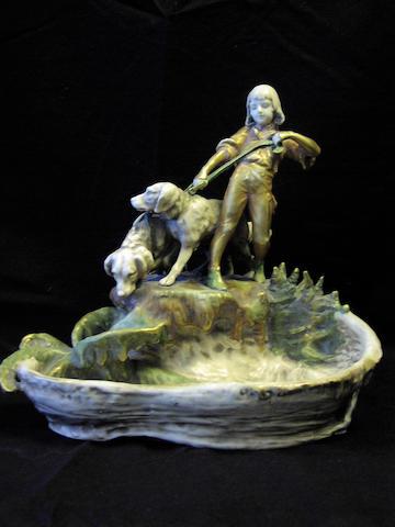 An Austrian Amphora pottery figural bowl
