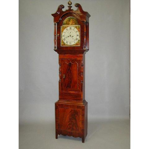 Thomas Bland Leeds; an early 19th Century mahogany crossbanded and boxwood strung longcase clock,