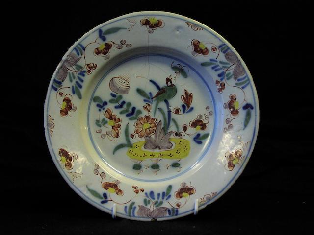 A Delft polychrome plate