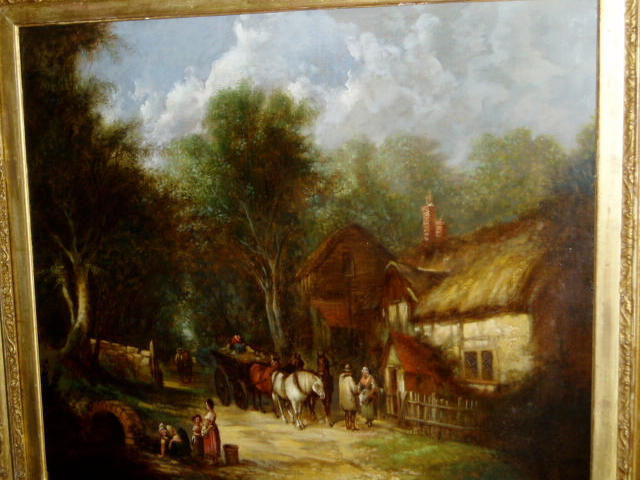 After William Shayer (1788-1879) A scene in the New ForestOil on canvas,