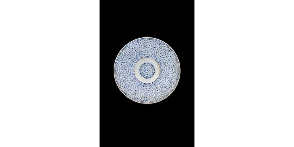 "An Iznik ""Golden Horn"" pottery Tondino Turkey, circa 1535-45"