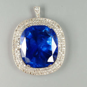 Sapphire and Diamond Brooch,