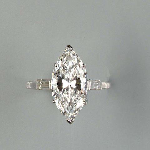 A D-colour diamond single-stone ring
