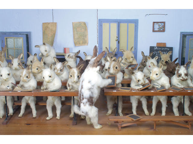 "The Walter Potter Tableau ""Rabbits' Village School"", English, late 19th century,"
