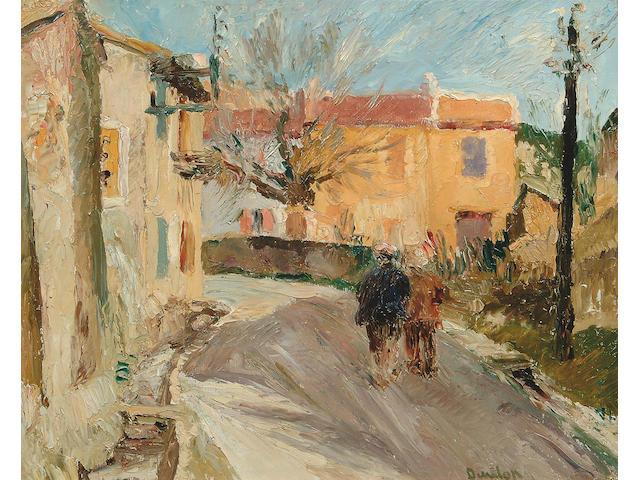"Ronald Ossory Dunlop R.A. (1894-1973) ""Village near Martigues"" 47.5 x 59.5cm"