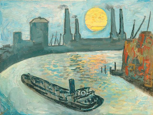 "Edward Douglas Eade (1911-1984) ""Thames Barge"" 29 x 39cm"