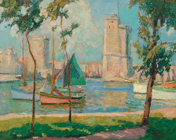 "John Anthony Park (1880-1962) ""Brittany Harbour"" 39.5 x 50cm"