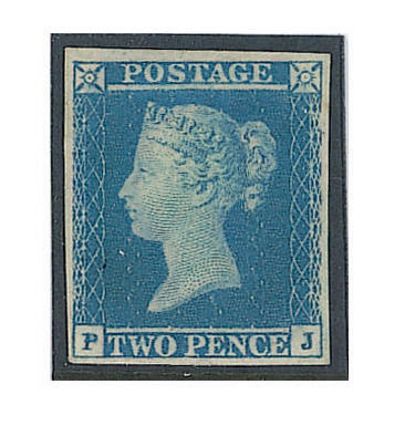 1841 2d. Plate 4: PJ violet-blue on thick lavender tinted paper, a very fine and fresh mint example of this rare shade. B.P.A. Certificate (1998) (1911)