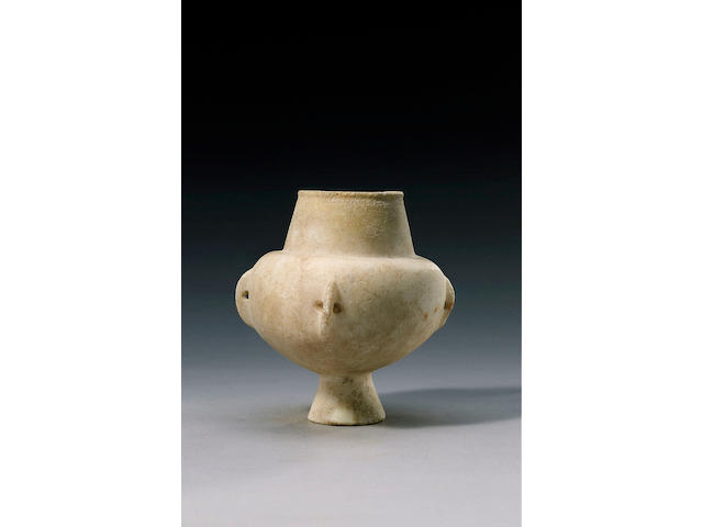 A Cycladic marble Kandila. Ex Thetis Collection. Sotheby's Dec 1991, lot 129,