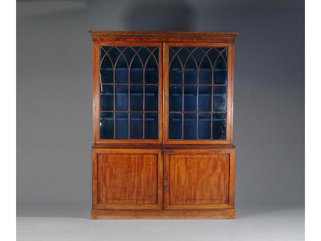 A George III mahogany library bookcase