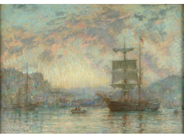 Henry Scott Tuke (British, 1858-1929) Evening departure 25.4 x 35.6cm
