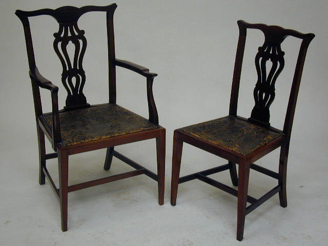 A set of ten mahogany dining chairs,