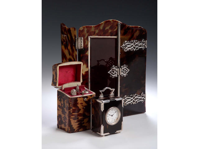 A Silver and Tortoishell Photo frame