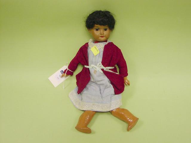 A mulatto A.M 1894 bisque head doll, circa 1910