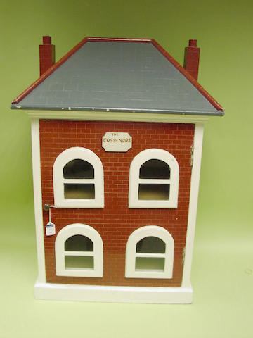 'The cosy Nook' painted wooden dolls house, English circa 1880