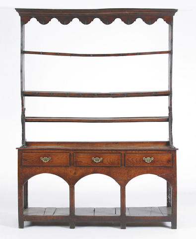 An early 19th Century oak dresser, South Wales,