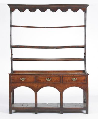 An early 19th Century oak dresser, South Wales,