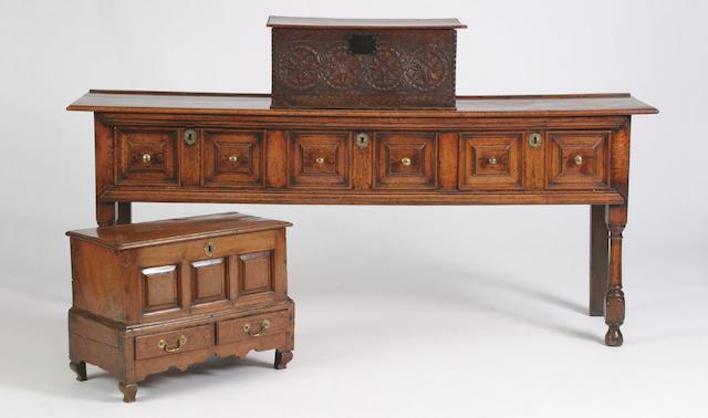 An early 18th Century oak dresser,