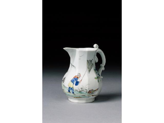 An exceptional Worcester cream jug circa 1753-54