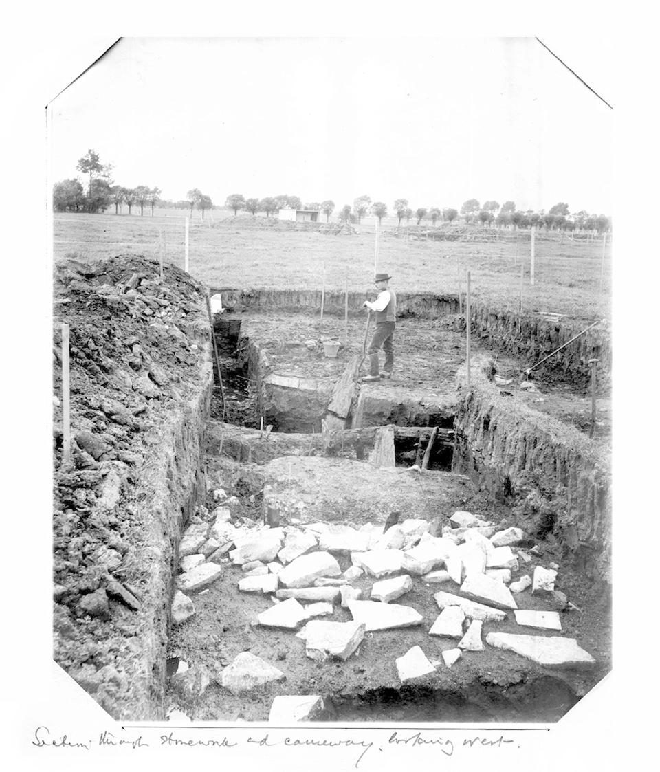GLASTONBURY LAKE VILLAGES, ARCHAEOLOGY Album containing approximately 200 photographs of a Glastonbury lake village archaeological dig