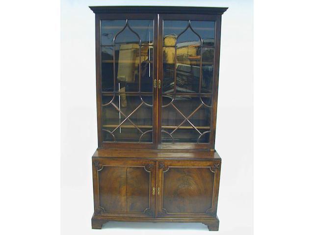 A George III mahogany display cabinet,
