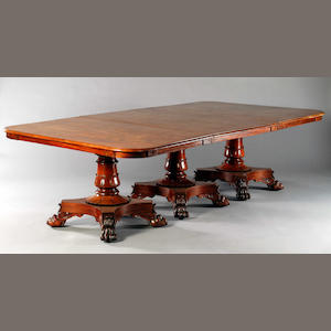 Wm IV Triple Pedestal Dining Table