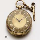 An early 19th century 18ct gold watch Barrauds, , Cornhill, later converted by Peake, London W.