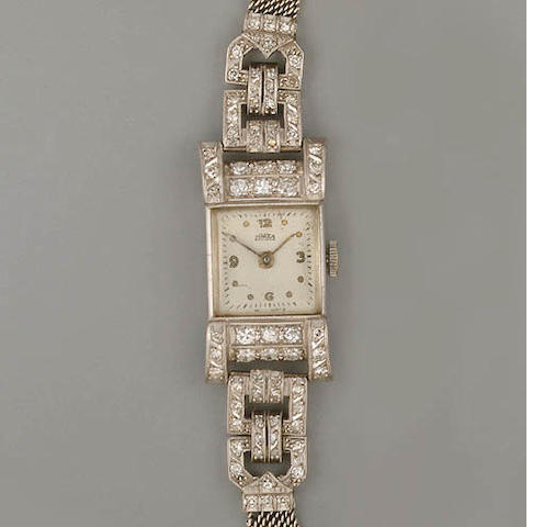 An Art Deco lady's diamond cocktail watch,