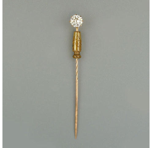 A diamond single-stone stickpin