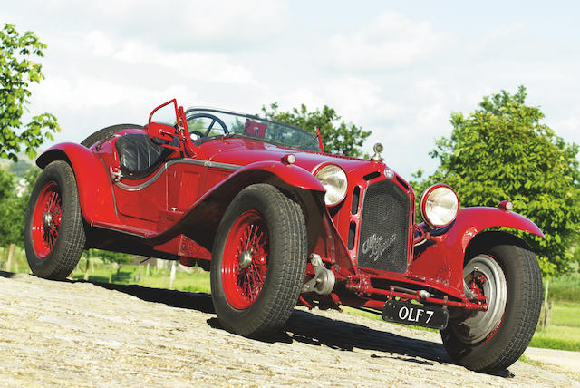 The Ex-Count Januszkowski,1931-33 2.6-litre engined Alfa Romeo TWO-SEAT SPIDER CORSA - COACHWORK IN