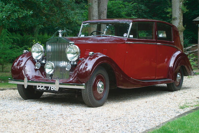 1940 Rolls-Royce 25/30hp Wraith Sports Saloon Coachwork by H.J. Mulliner  Chassis no. WHC 40 Engine no. G6WR