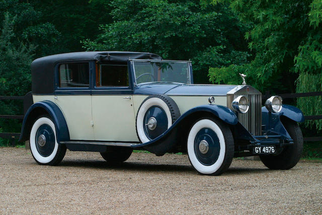 1929 Rolls-Royce Phantom II 40/50hp Sedanca de Ville Coachwork by Barker 171GN