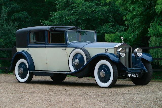 1929 Rolls-Royce Phantom II 40/50hp Sedanca de Ville Coachwork by Barker  Chassis no. 171GN Engine no. BH85