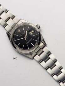 Rolex. A stainless steel automatic calendar wristwatch  'Oyster Perpetual Date' Ref:1500, 1964