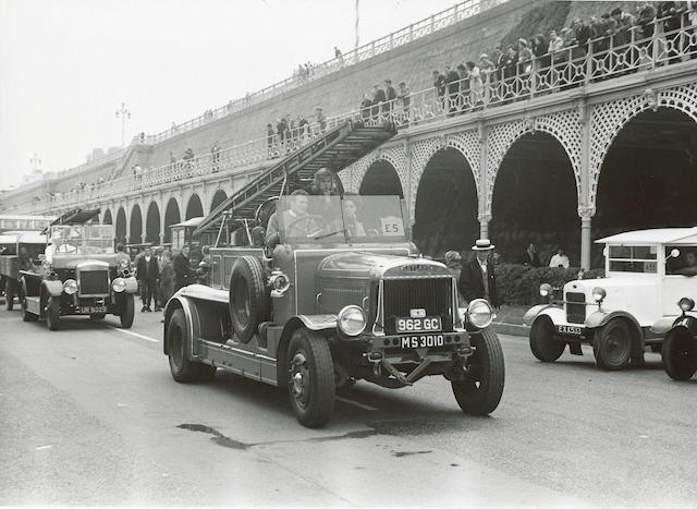 1920 Leyland 'Braidwood' Fire Engine  Chassis no. 11607 Engine no. 9415