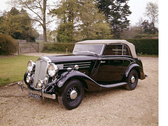 Formerly the personal car of Lord Nuffield,1937 Wolseley Super Six 25 Series III Drophead Coupé 325/DHC/499