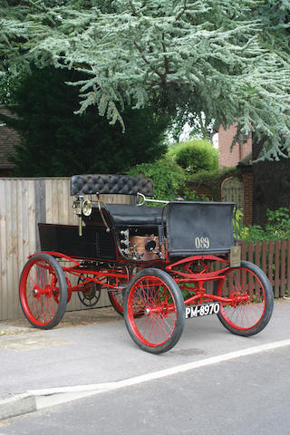 1896 Whitney Two-Cylinder Steam Runabout VCC Dating Certificate no. 1541