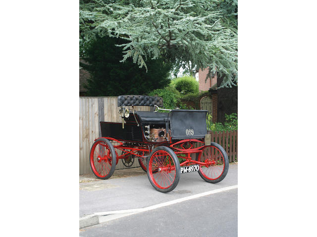 1896 Whitney Two-Cylinder Steam Runabout  Chassis no. VCC Dating Certificate no. 1541