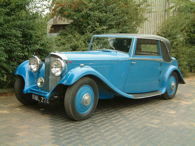 1935 Bentley 3 1/2 Litre Two-Door Coupe Coachwork by Barker B45 CW